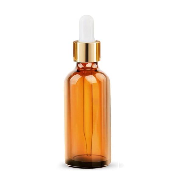 10 ML Amber Alkali Su Şişesi Boş Damlalıklı Dropper Şişe Cam Pipet Gold Kapak Beyaz Lastik