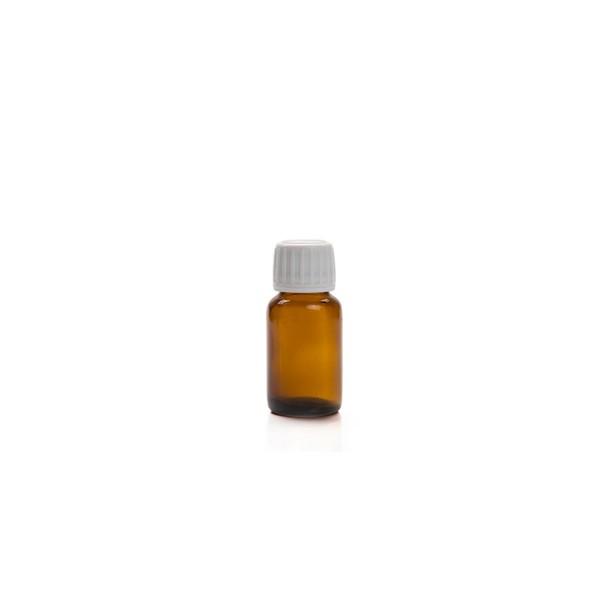30 ML Amber Renkli Ecza Şişesi Beyaz Kapak