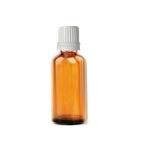 10 ML Amber Alkali Su Şişesi İçten Damlalıklı Beyaz Kapak