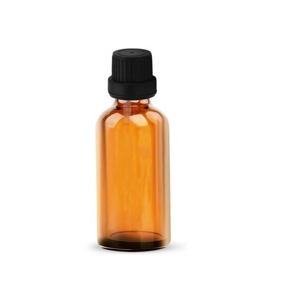 10 ML Amber Alkali Su Şişesi İçten Damlalıklı Siyah Kapak
