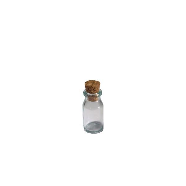 10 cc Şeffaf Penisilin Flakon Cam Şişe Mantar Tıpalı