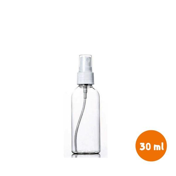 30 ml Esans Şişesi Pet Şişe 18mm Beyaz Spreyli Başlıklı Kapaklı