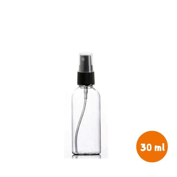 30 ml Dezenfektan Şişesi Pet Şişe 18mm Siyah Spreyli Başlıklı Kapaklı