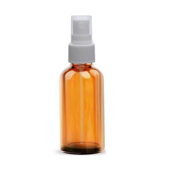 10 ML Boya Şişesi Cam Şişe Amber Renk Beyaz Sprey Başlıklı