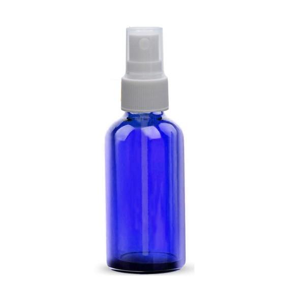 10 ML Boya Şişesi Cam Şişe Mavi Renk Beyaz Sprey Başlıklı