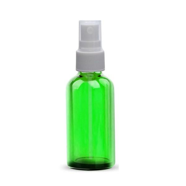 10 ML Boya Şişesi Cam Şişe Yeşil Renk Beyaz Sprey Başlıklı