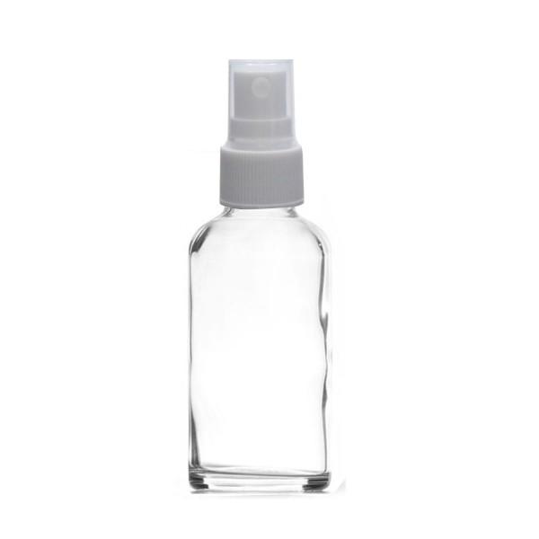 10 ML Boya Şişesi Cam Şişe Şeffaf Renk Beyaz Sprey Başlıklı