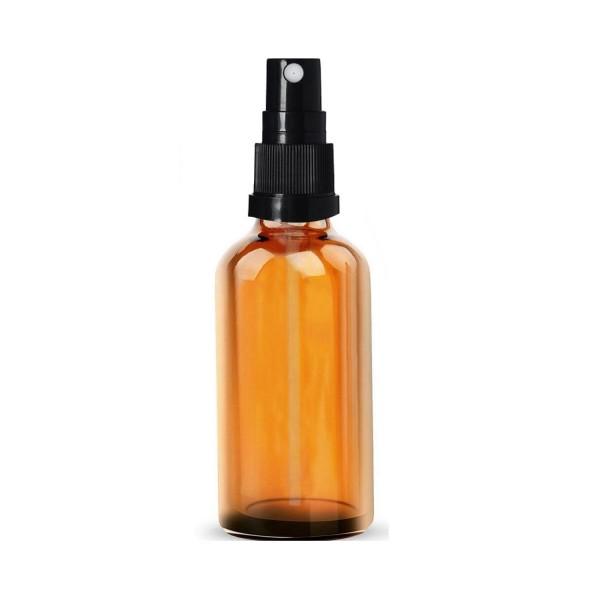 10 ML Cam Şişe Amber Renk Siyah Sprey Başlıklı